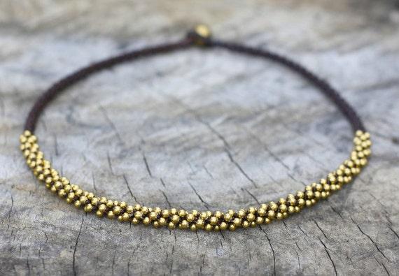 Brass Bead Wind Necklace