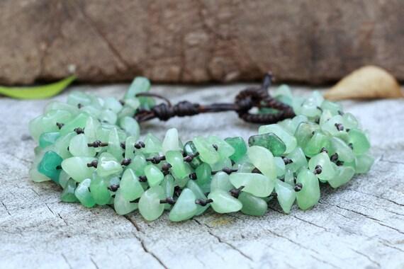 Heavy Jade Stone Bracelet