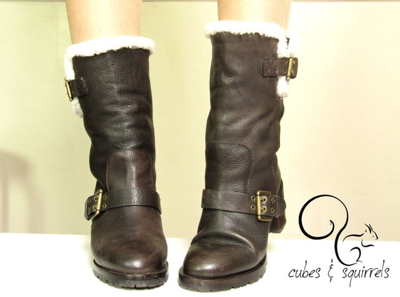 KENZO shearling boots - 1980 by cubesandsquirrels