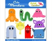 Monsters - Personal and Commercial Use Clip Art - paper crafts, scrapbooking, card making