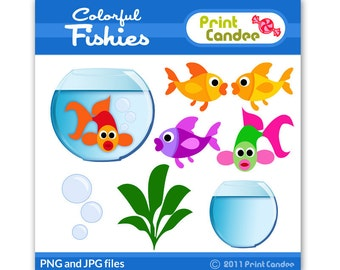 Little Fishies - Digital Clip Art - Personal and Commercial Use Clip Art - graphics, scrapbooking, card making, birthday