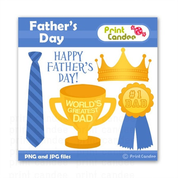 Father's Day -  Digital Clip Art - Personal and Commercial Use Clip Art - card making, scrapbooking, father, dad, man