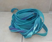Tranquil 5 hand painted silk ribbons