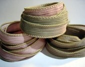 Gypsy Dust Trio 3 coordinating hand dyed silk ribbons