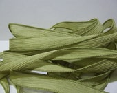 Olive branch crinkle silk ribbons