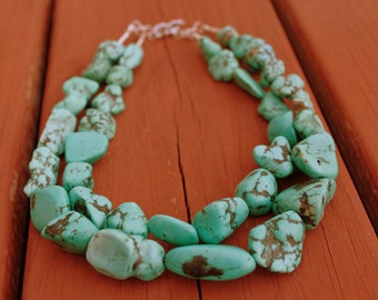 Turquoise Necklace, Chunky Turquoise Necklace
