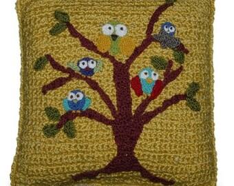 Owls Crochet Pillow Pattern