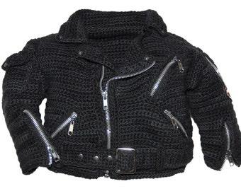 Motorcycle Jacket Crochet Pattern