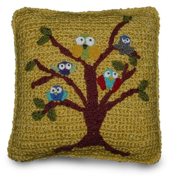 Owls Crochet Pillow Pattern