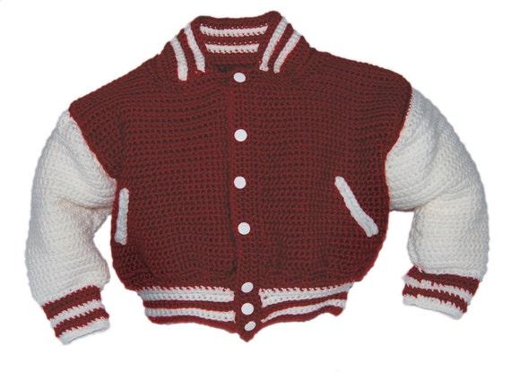 Baseball Jacket Crochet Pattern, Crochet Pattern Baby, Baby Crochet Patterns