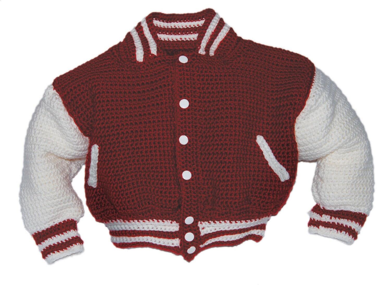 Baseball Jacket Crochet Pattern Crochet Pattern Baby Baby