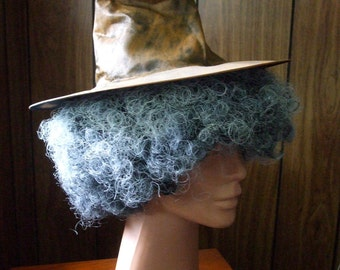 Harry Potter inspired Professor Sprout witch hat & hair handmade costume
