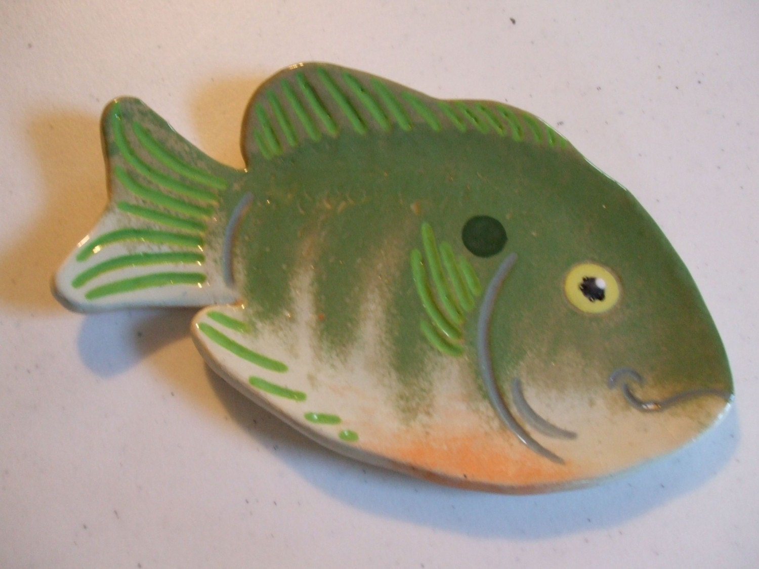 Fish 8 spoon rest tea bag holder soap dish by ryookiarts for Fish tea bags