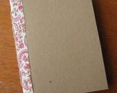 Moleskine Alternative in Pink Floral- Pocket Size Journal, Notebook
