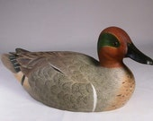 Green-winged Teal Hand Carved Wooden Bird