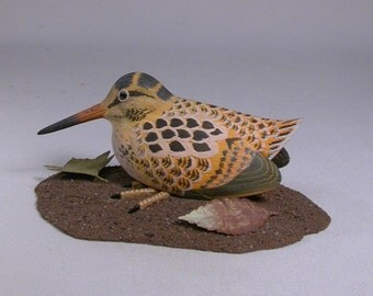 6 inches American Woodcock Hand Carved Bird