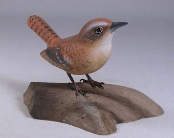 Carolina Wren Original Bird Carving Basswood