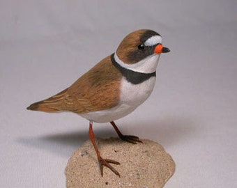 Semipalmated Plover Hand Carved and Hand Painted Water bird