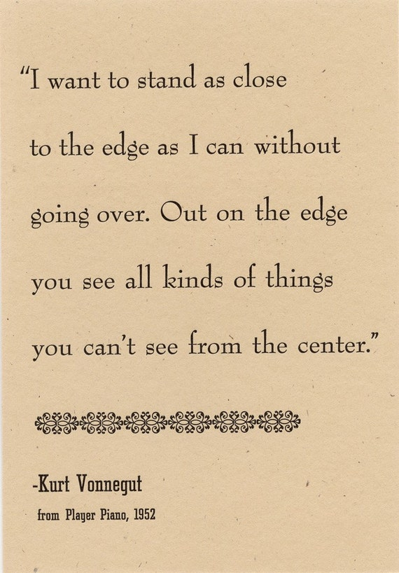 Vonnegut Postcard - On the Edge