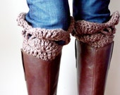 INSTANT DOWNLOAD Crochet PATTERN Boot Cuffs pdf boot sock leg warmer buffer for fashionista