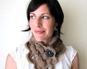 INSTANT DOWNLOAD Crochet PATTERN Cuzco Scarf pdf scarflette button cowl for her