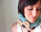 INSTANT DOWNLOAD diy hat earwarmer chunky cowl Crochet PATTERN Hybrid Warmer for girlie girl