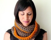 INSTANT DOWNLOAD Infinity loop scarf Crochet PATTERN Circle Scarf pdf winter cowl for her