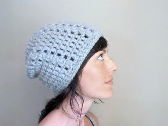 INSTANT DOWNLOAD Winter Slouch Hat Crochet PATTERN  chunky hipster beanie for her pdf