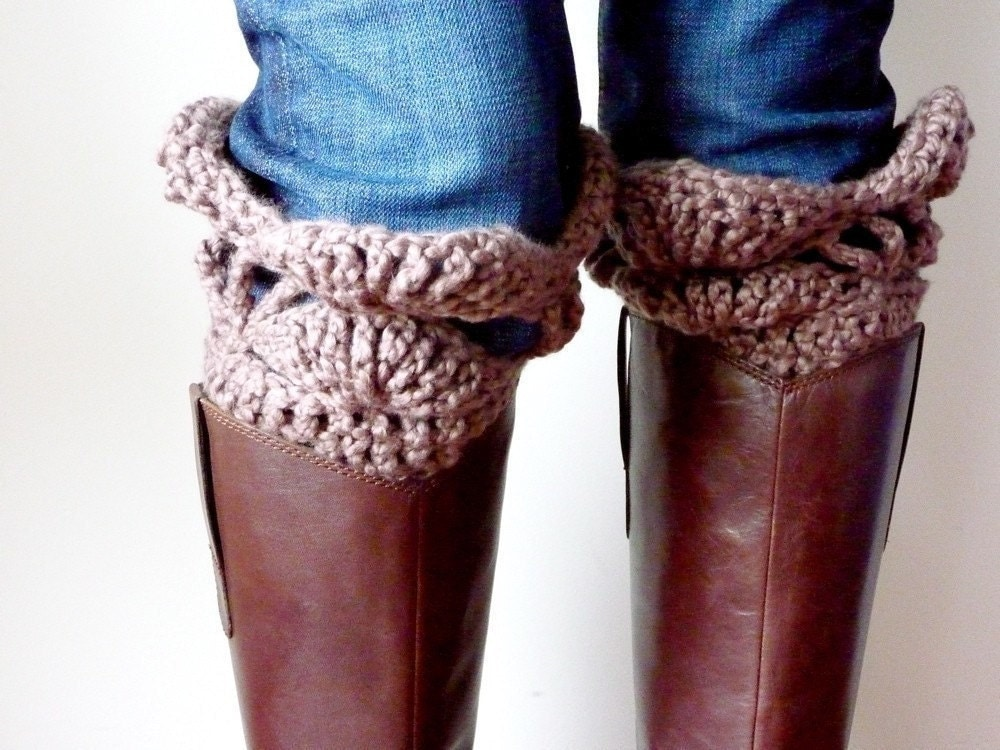Free Printable Crochet Patterns For Leg Warmers : INSTANT DOWNLOAD Crochet PATTERN Boot Cuffs pdf by LaineDesign