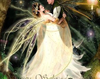 Faeries Dance by Susan Schroder Fairy Art  Print