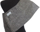 Charcoal Baby Sling- Black with ivory---Stretch Twill-very durable and fashionable