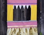 Doorway Puppet Theatre --Yellow-- Imported Dutch and Vintage Fabric