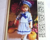Pattern for 8'  Sailor Doll Dress
