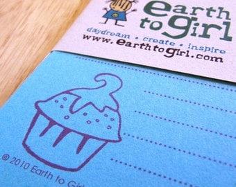 Turquoise Cupcake Stationery Set