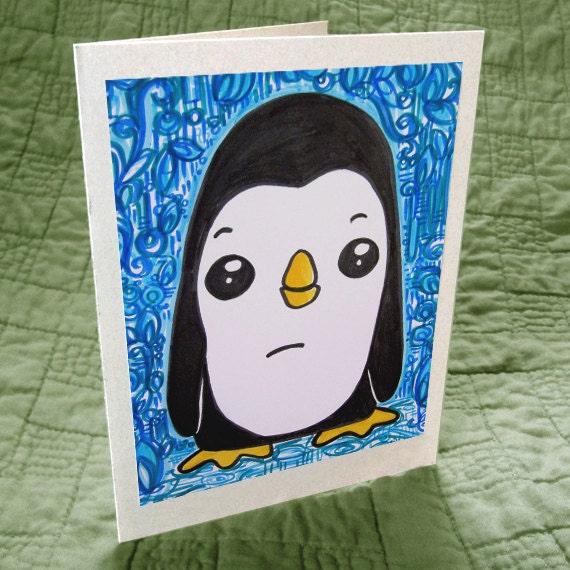 Pam the Penguin Greeting Card