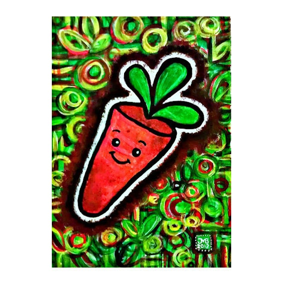 Happy Carrot 5x7 Limited Edition Print