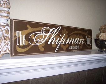 8x32 Vintage Family Style Name Signage