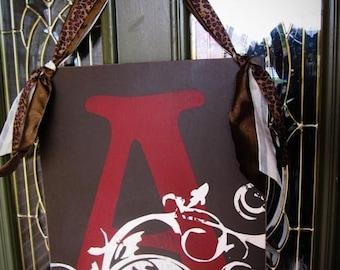 Initial Door Sign 16x20 Personalized, Custom