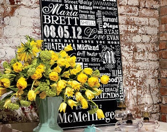 Subway Sign - Custom, Personalized Established Date Family Subway Sign 24x36 (additional sizes available in my shop)