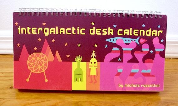 Intergalactic Perpetual Desk Calendar