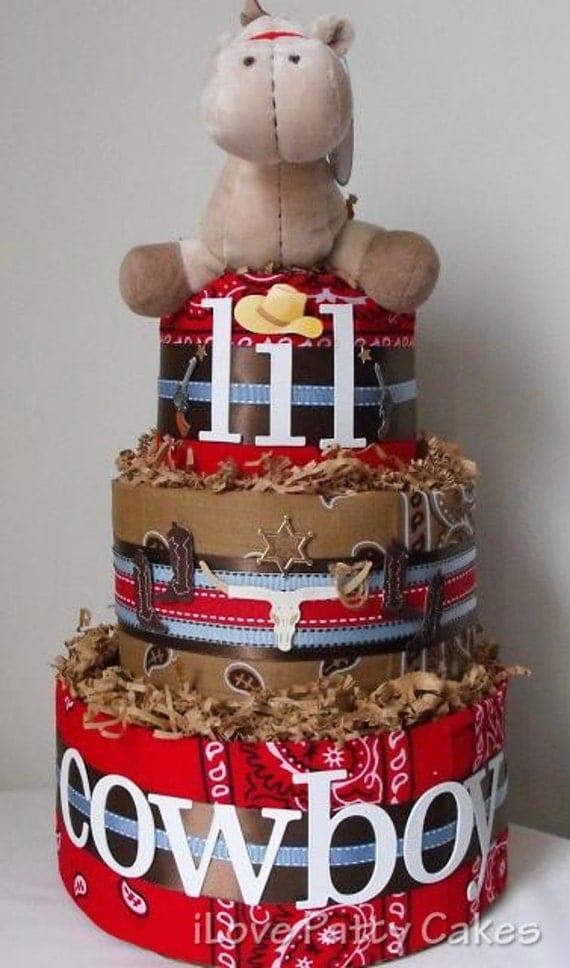 Cowboy Themed Diaper Cake