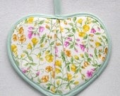 Yellow and Pink Sweet Pea Hotpads