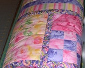 Pink Floral Quilt Rosewater Queen