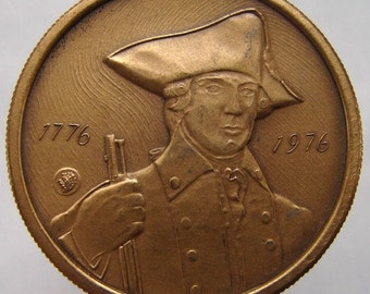 N.Y. BICENTENNIAL MEDAL 1776 1976 Liberty New York State Bicentennial Commemorative medal
