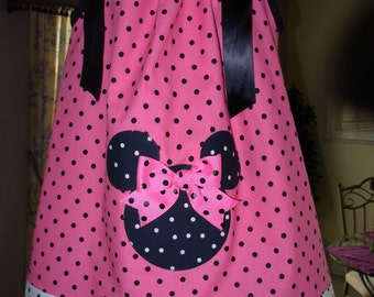 Minnie Mouse Pink Pillowcase Dress (extra for personalization)