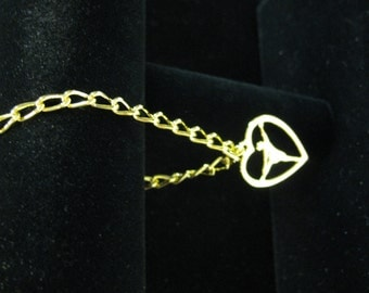 Gold plated charm bracelet, BALLERINA CHARM