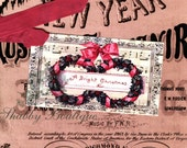 Merry Christmas ... To and From ... Holly ... Wreaths ... Sheet Music ... Gift Tags ... ECS