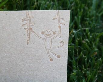 Monkey stationery set