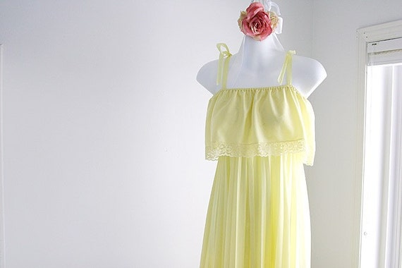 Sale - Sunny Yellow Floor Length Junior Dress -size M - L
