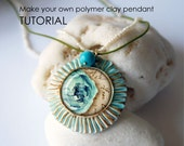 Creative Project - Make Unique Polymer Clay Pendants - Pdf Tutorial with 2 Free Collage Sheets